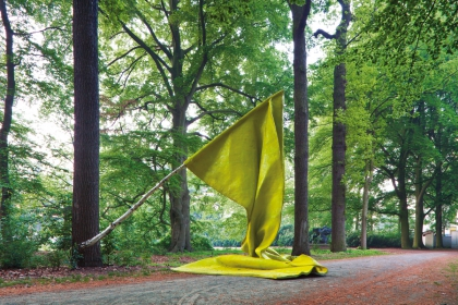 Flag (2010) | 450 x 350 x 600 cm | polyester - birch
