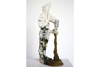 Birch man #2 (2017) | 50 x 16 x 23 cm | ceramics