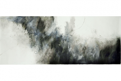 Soundscape (2013) | 150 x 376 cm | pencil - graphite - charcoal - ink - acrylic on 224 g/m2 Canson paper